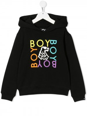 Худи с логотипом Boy London Kids. Цвет: черный