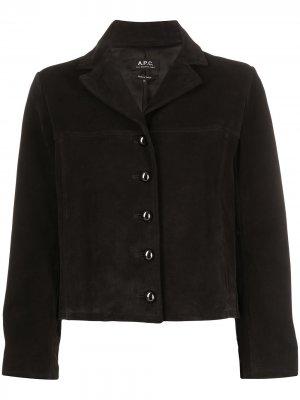 Куртка свободного кроя A.P.C.. Цвет: черный