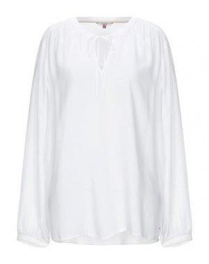 Блузка TOMMY JEANS. Цвет: белый