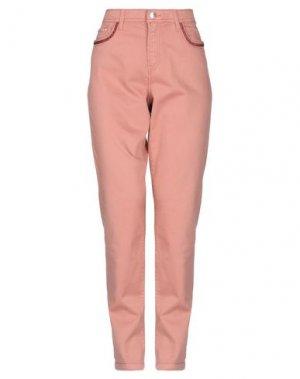 Повседневные брюки FUEGO WOMAN. Цвет: пудровый