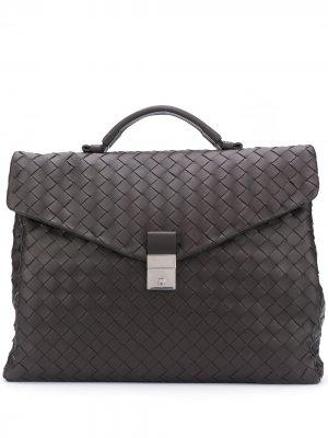 Дорожная сумка с плетением Intrecciato Bottega Veneta. Цвет: коричневый