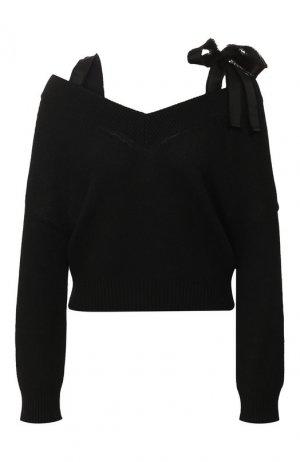 Пуловер REDVALENTINO. Цвет: черный