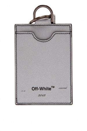 Серая визитница Off-white. Цвет: серый