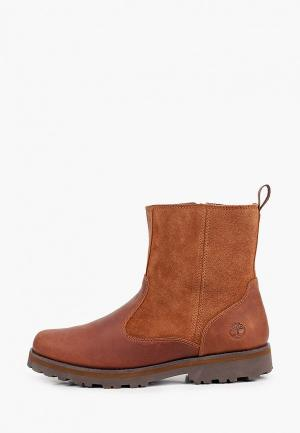 Ботинки Timberland COURMA KID Warm Lined Boot. Цвет: коричневый