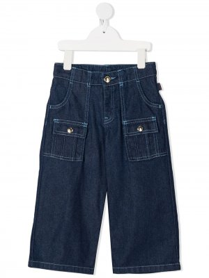 Прямые джинсы Chloé Kids. Цвет: синий