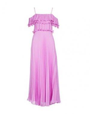 Длинное платье HALSTON. Цвет: сиреневый