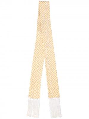 Удлиненный шарф в клетку Haider Ackermann. Цвет: желтый