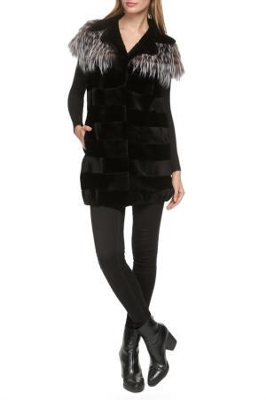 Меховая куртка Manakas. Цвет: черный