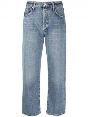 Укороченные джинсы средней посадки Citizens of Humanity. Цвет: синий