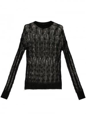 Джемпер тонкой вязки Nina Ricci. Цвет: черный