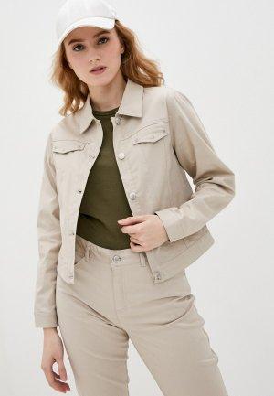 Куртка джинсовая Micha. Цвет: бежевый