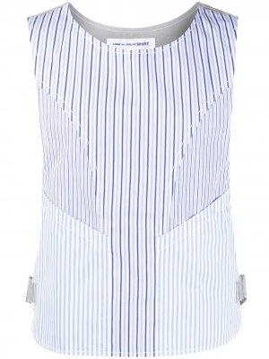 Полосатый жилет Comme Des Garçons Shirt. Цвет: синий