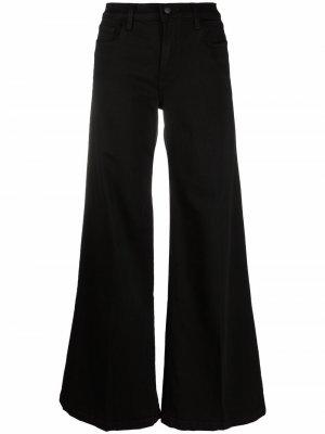 Расклешенные джинсы широкого кроя J Brand. Цвет: черный