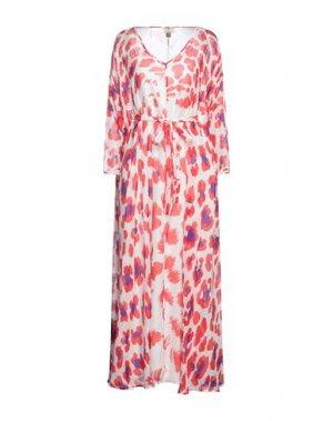 Платье миди ISSA. Цвет: красный