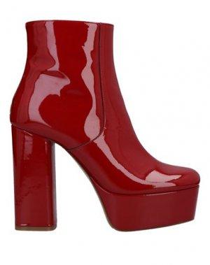 Полусапоги и высокие ботинки P.A.R.O.S.H.. Цвет: красный