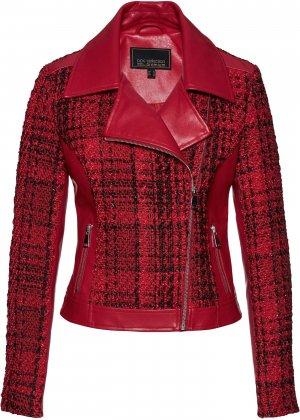 Куртка косуха bonprix. Цвет: красный