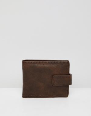 Коричневый бумажник из искусственной кожи New Look. Цвет: коричневый