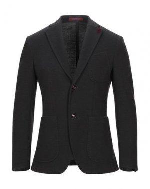 Пиджак GIACCHE'. Цвет: темно-коричневый
