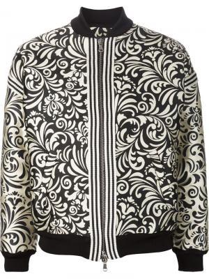Жаккардовая куртка-бомбер Emanuel Ungaro. Цвет: чёрный