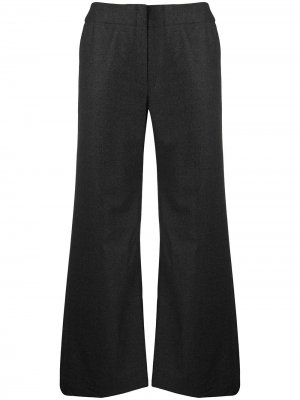 Строгие брюки широкого кроя Chanel Pre-Owned. Цвет: серый