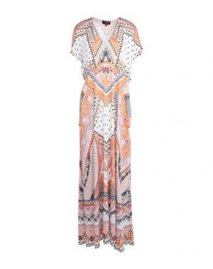 Длинное платье HALE BOB. Цвет: оранжевый