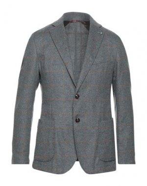 Пиджак EXIGO. Цвет: серый
