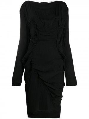 Приталенное платье миди Vivienne Westwood. Цвет: черный