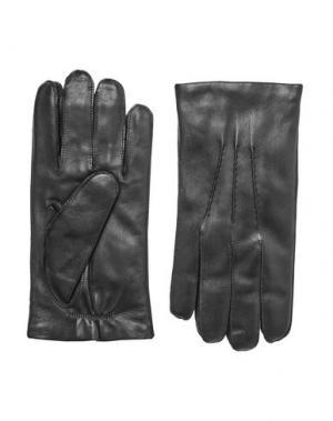 Перчатки RALPH LAUREN PURPLE LABEL. Цвет: черный