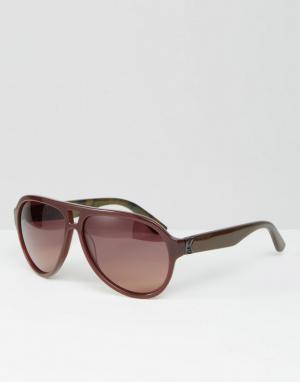 Коричневые солнцезащитные очки-авиаторы Karl Largerfeld K by Lagerfeld. Цвет: коричневый