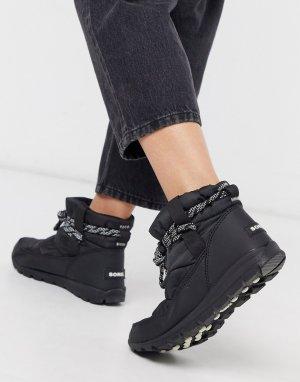 Черные водонепроницаемые ботинки -Черный Sorel