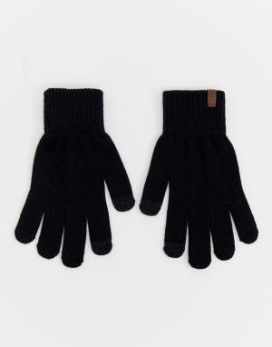 Черные перчатки magic Timberland. Цвет: черный