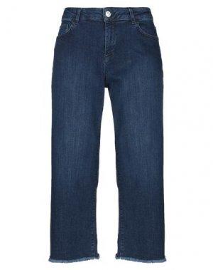 Джинсовые брюки-капри CARACTÈRE. Цвет: синий