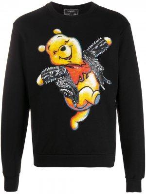 Толстовка с принтом Winnie the Pooh DOMREBEL. Цвет: черный