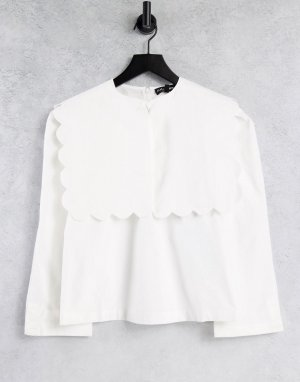 Белая рубашка с большим воротником Sister Jane-Белый jane
