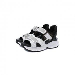 Текстильные сандалии Harvey MICHAEL Kors. Цвет: чёрный