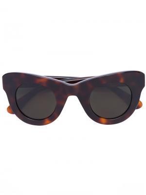 Солнцезащитные очки Uma Sun Buddies. Цвет: коричневый