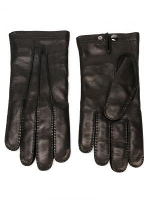 Перчатки Salvatore Ferragamo. Цвет: чёрный