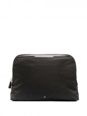 Lotions & Potions clutch bag Anya Hindmarch. Цвет: черный