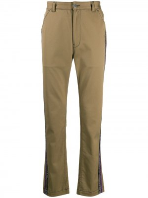 Расклешенные брюки чинос с лампасами Just Cavalli. Цвет: нейтральные цвета