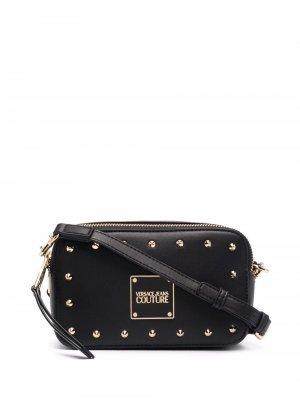 Сумка через плечо Range E с заклепками Versace Jeans Couture. Цвет: черный