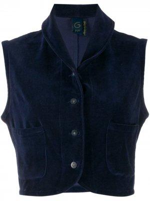 Укороченный жилет 1990-х Romeo Gigli Pre-Owned. Цвет: синий