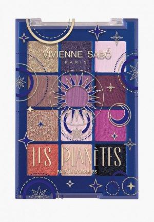 Палетка для глаз Vivienne Sabo Les planetes. Цвет: коричневый