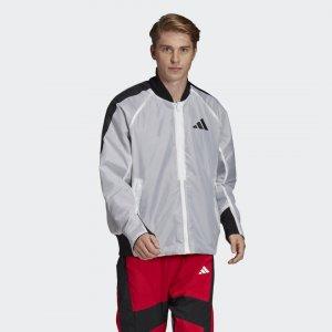 Бомбер оверсайз VRCT Athletics adidas. Цвет: белый