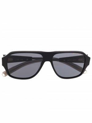 Солнцезащитные очки-авиаторы с затемненными линзами Dita Eyewear. Цвет: черный