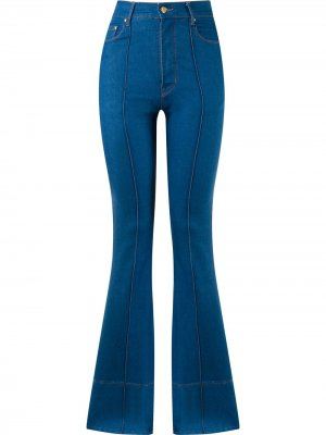 Расклешенные джинсы с завышенной талией Amapô. Цвет: синий