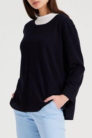 Темно-синий пуловер Amina Rubinacci