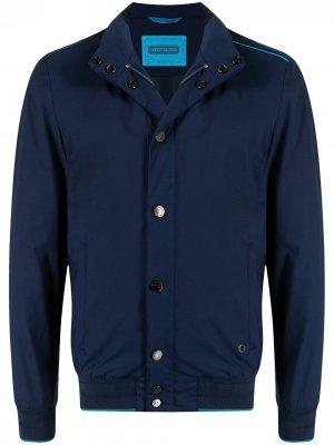 Куртка с контрастной отделкой Stefano Ricci. Цвет: синий