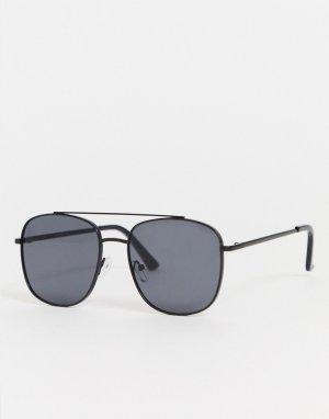 Солнцезащитные очки с планкой в стиле ретро -Черный Only & Sons