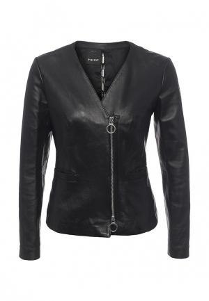 Куртка кожаная Pinko PI754EWOID37. Цвет: черный