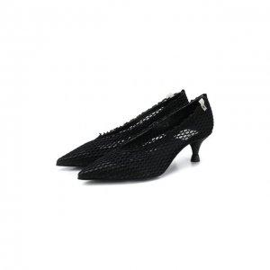 Текстильные туфли Premiata. Цвет: чёрный